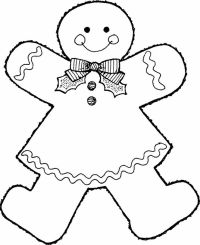 Gingerbread Baby Coloring Pages - Coloring Home