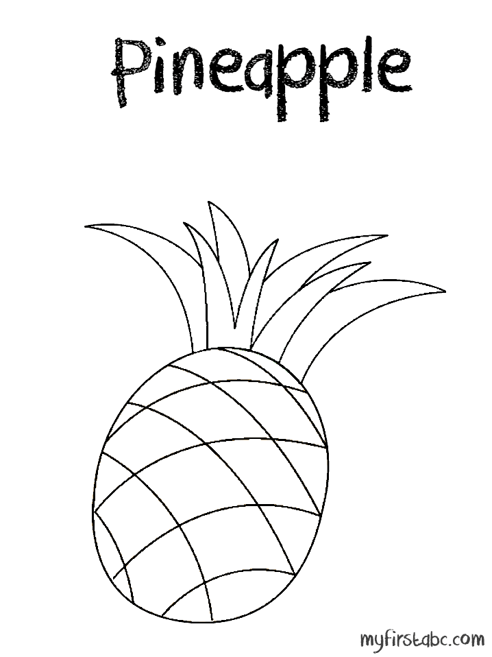 Pineapple Coloring Page Sketch Coloring Page