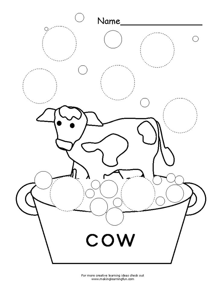 Free click clack moo coloring pages