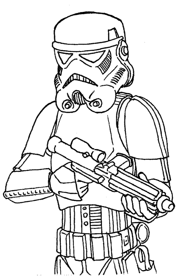 Stormtrooper Star Wars Clone Wars Coloring Pages