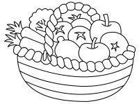 Fruits Coloring Pages For Kids - AZ Coloring Pages