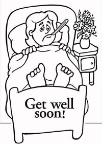 Get Well Soon Coloring Cards - Coloring Home