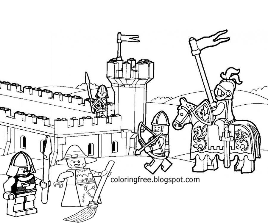 Related Keywords & Suggestions for lego castle coloring pages