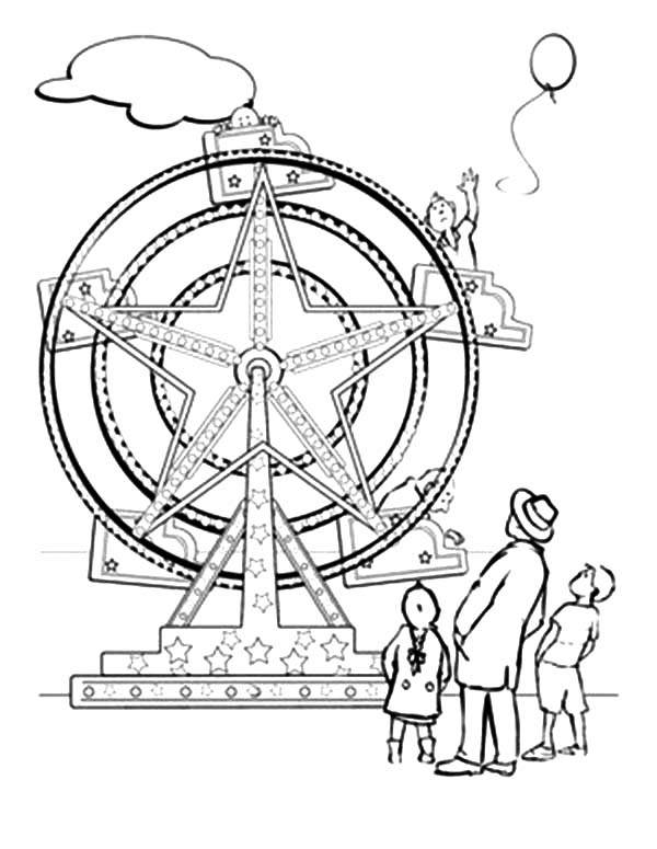 Fair Ride Pages Coloring Pages