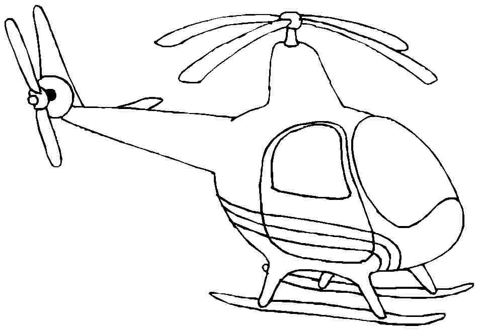 y helicopter Colouring Pages