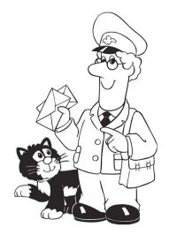Postman Pat Coloring Pages - Coloring Home