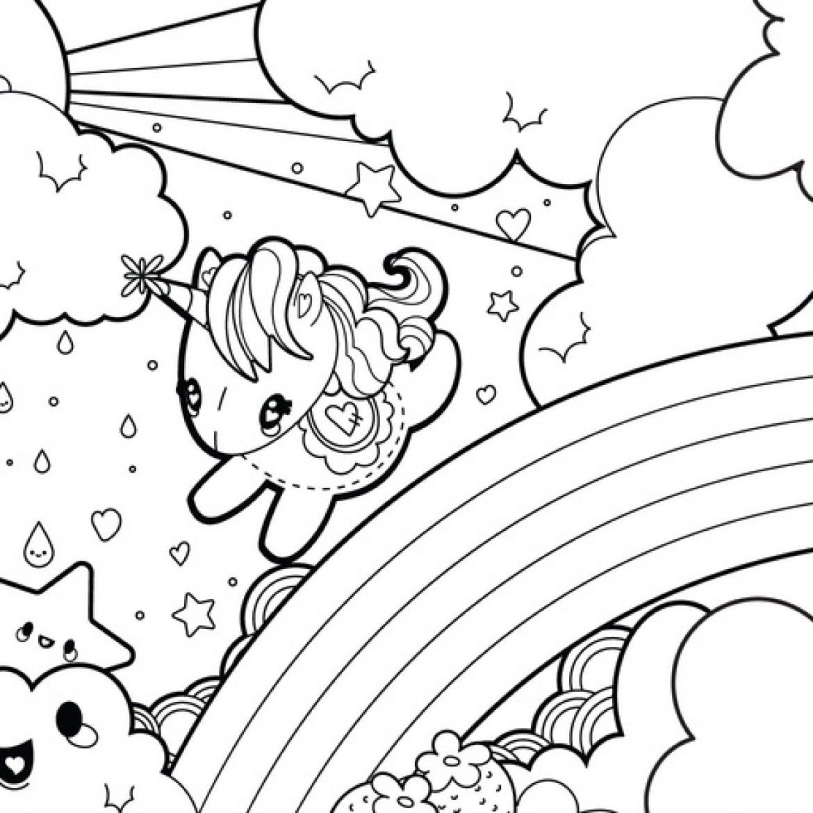 Coloring Pages Of A Unicorn