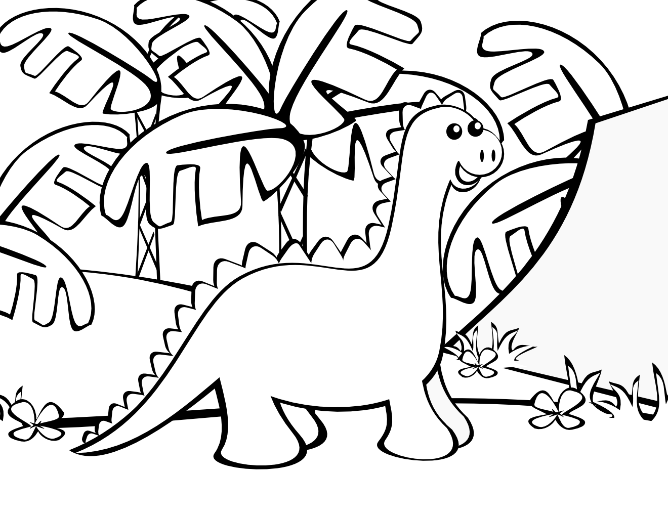 Cute Dinosaur Coloring Pages For Kids