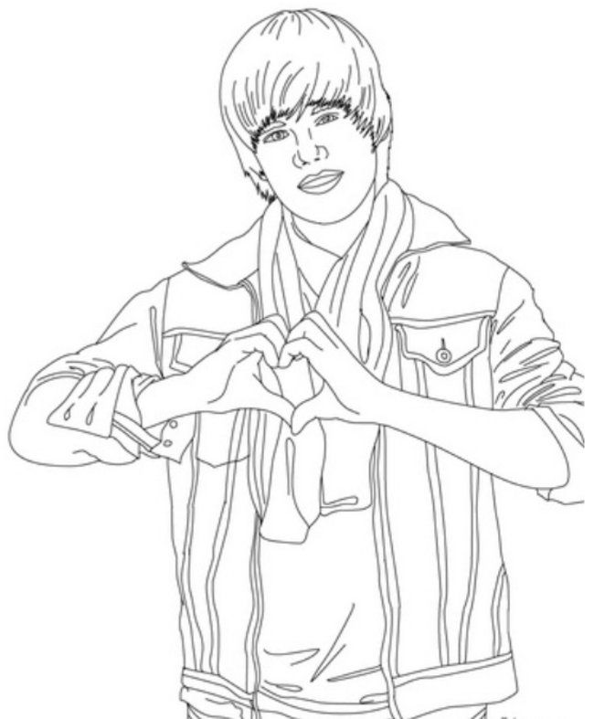 Coloring Pages Of Justin Bieber Coloring Home