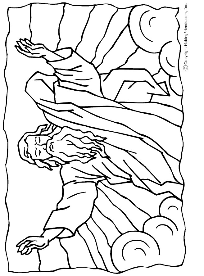 Moses Parting Red Sea Coloring Page Sketch Coloring Page
