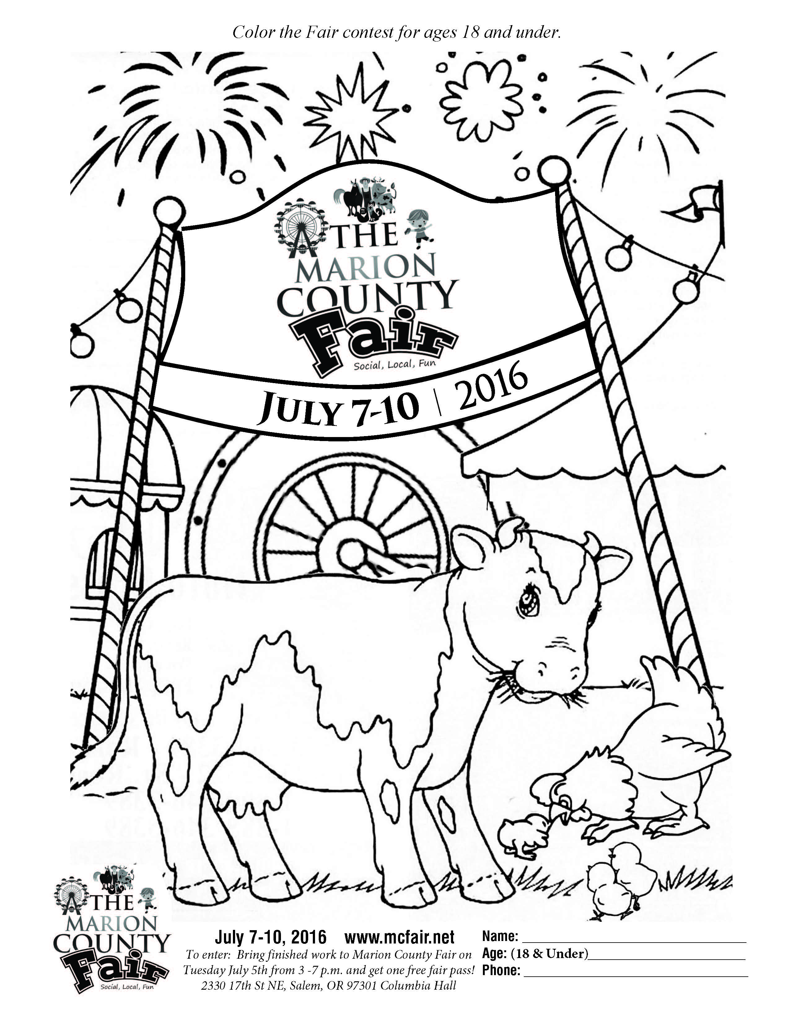 County Fair Coloring Sheets Coloring Pages