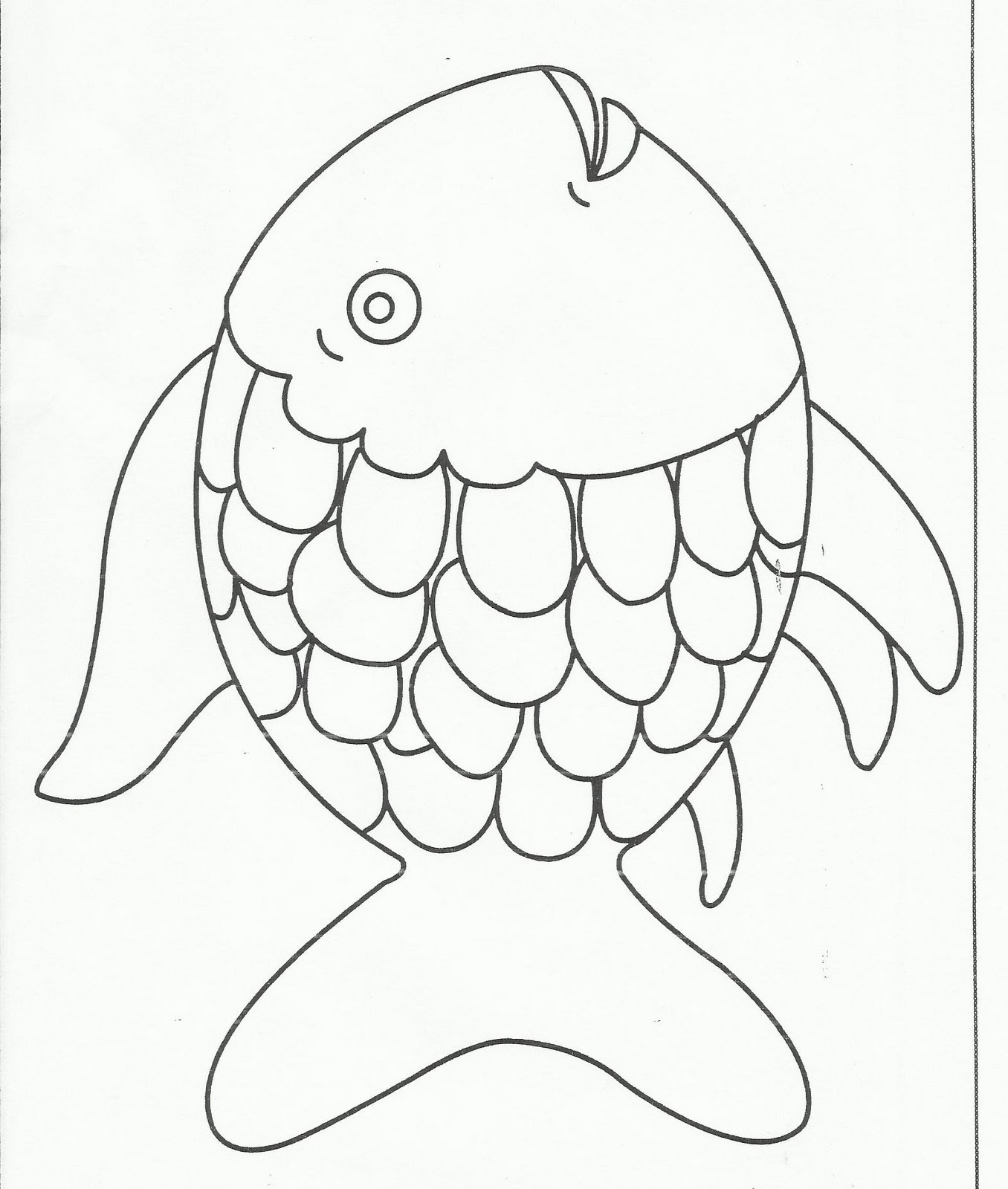Rainbow Fish Outline