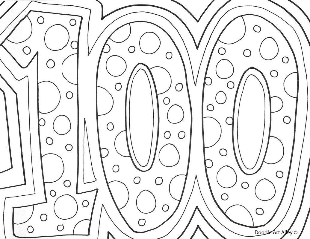 100th Day Of School Coloring Pages Free Coloring Home