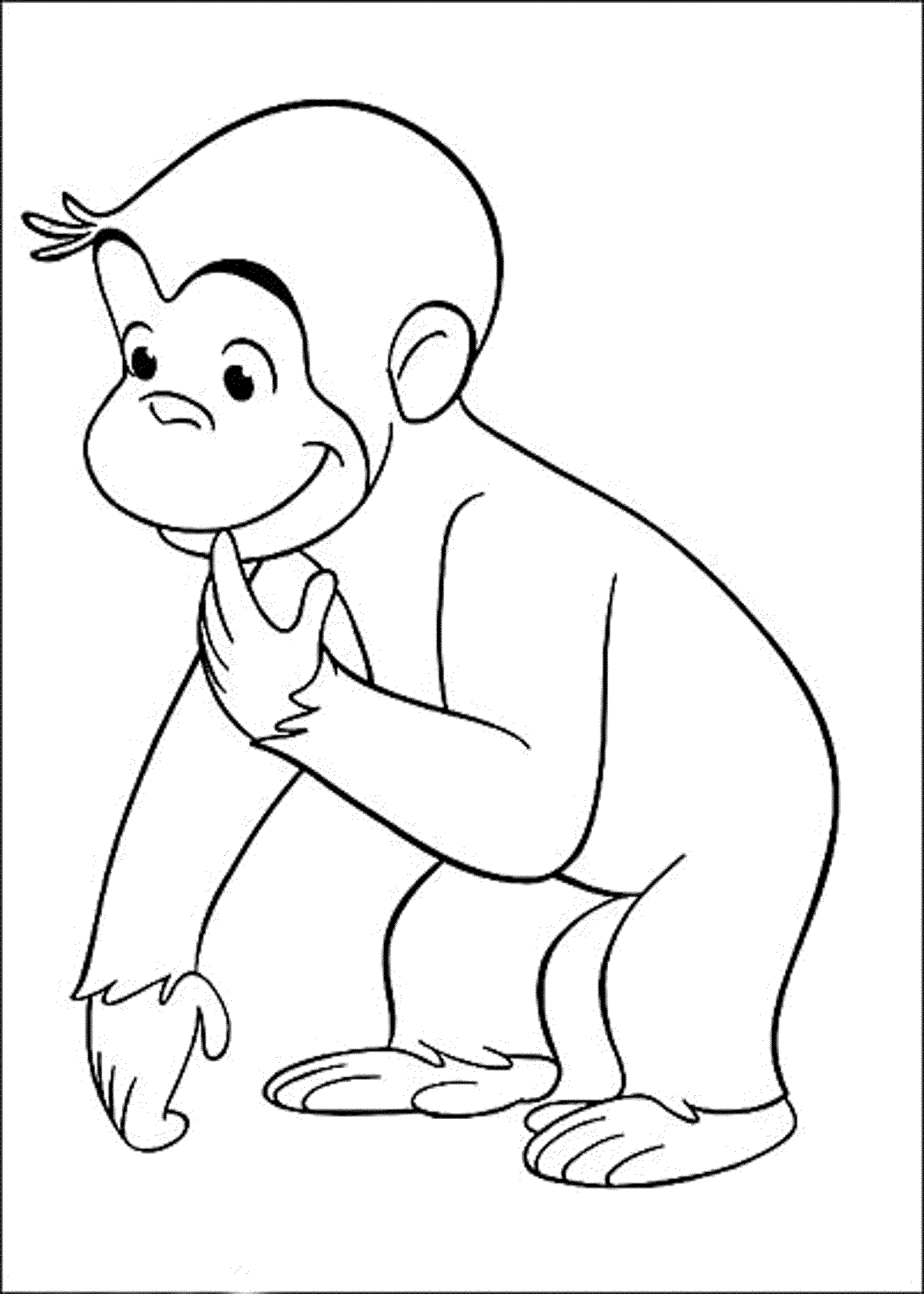 Curious George Head  Coloring Home