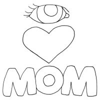 I Love You Mom Coloring Pages - Coloring Home