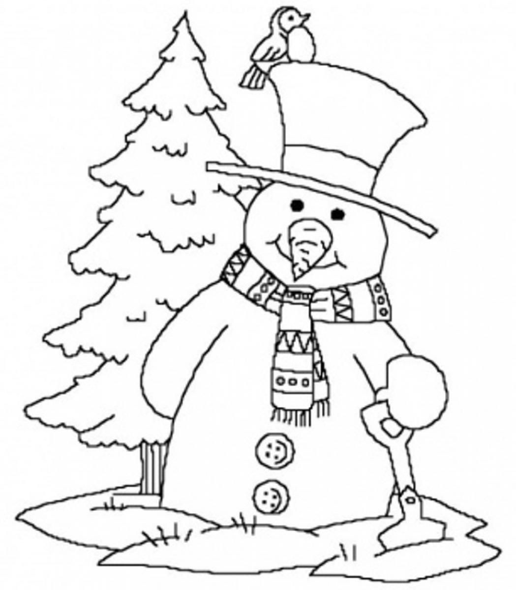 Winter Coloring Pages For Kindergarten