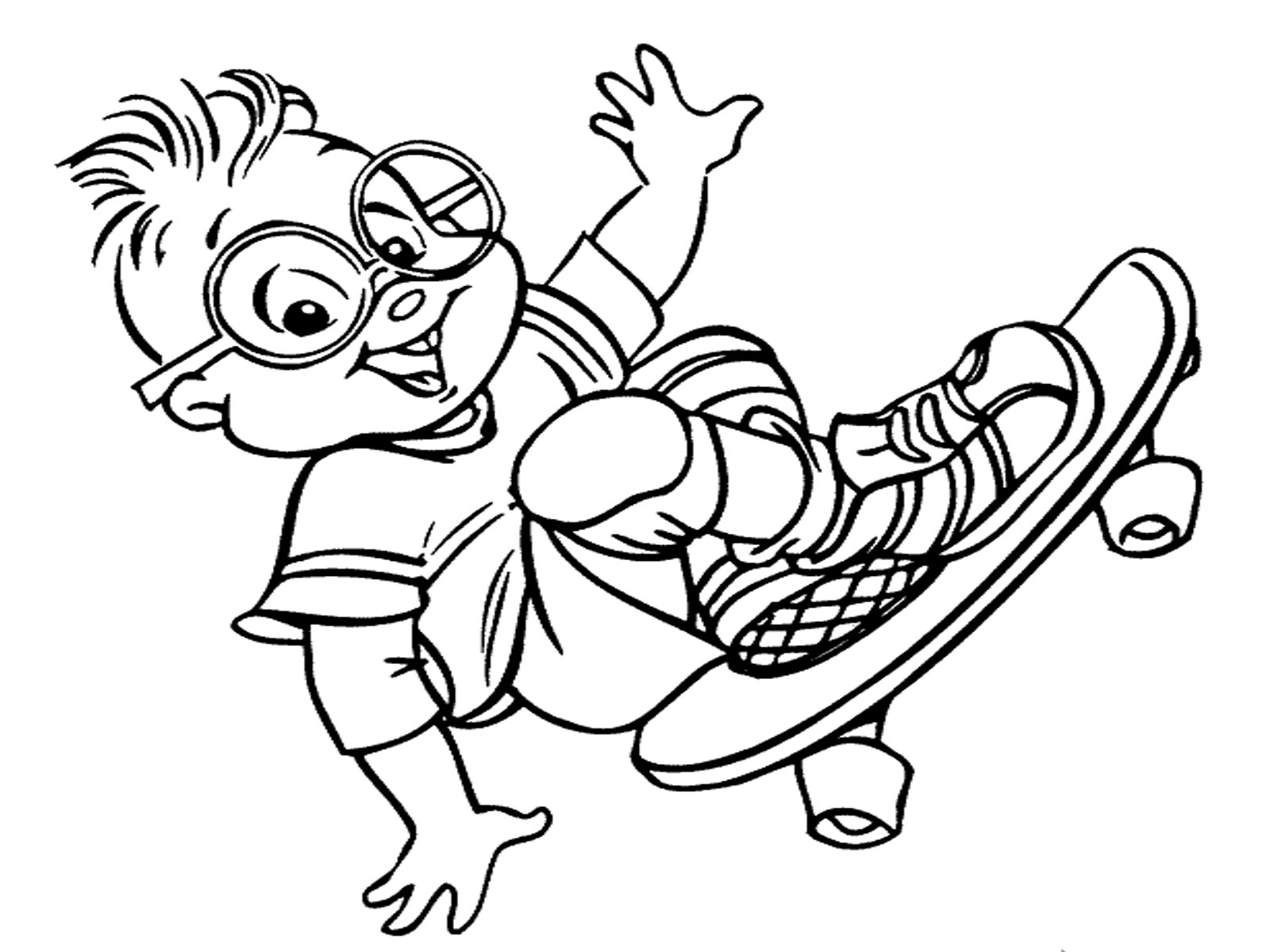 Coloring Pages Alvin And The Chipmunks  Coloring Home