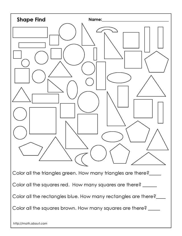 Free coloring pages of 2d shapes