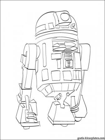 Astromech Droid R2d2 Coloring Online Super Coloring 277915