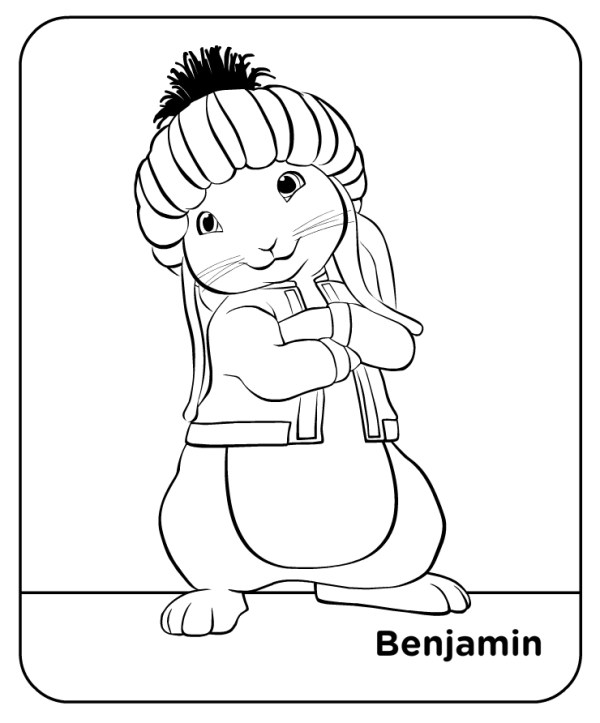 Free coloring pages of benjamin peter rabbit