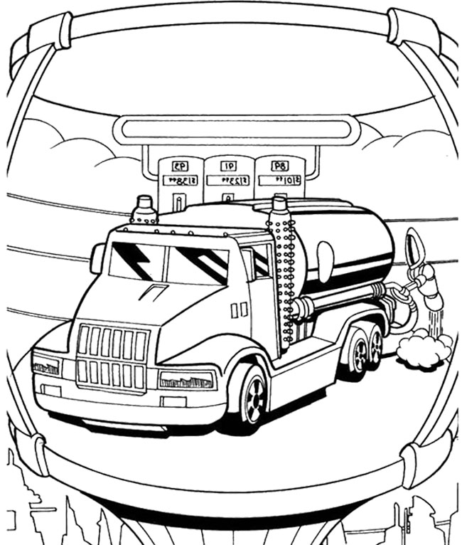 Hot Wheels Coloring Pages : Car Hot Wheels Repair And Feul