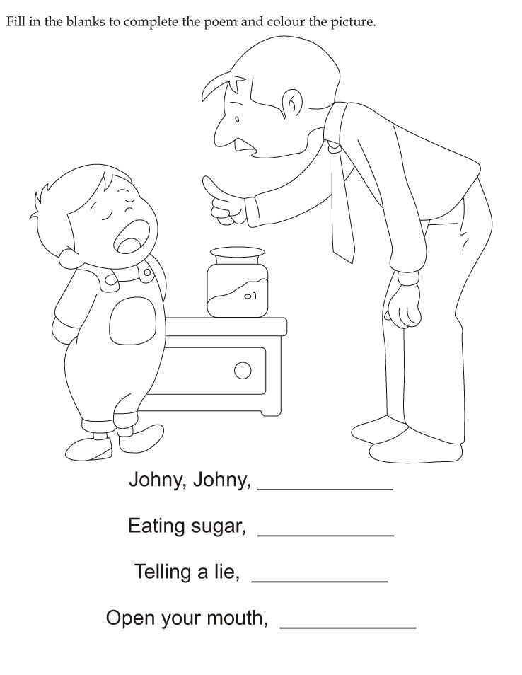 Fill In The Blanks To Complete The Poem And Color The