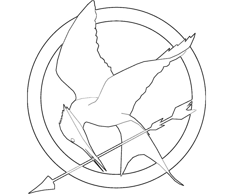 Hunger Games Coloring Pages U2013 Mockingjay