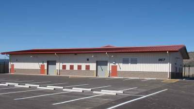 Finished building of Whiteriver District Transportation Center on a sunny day