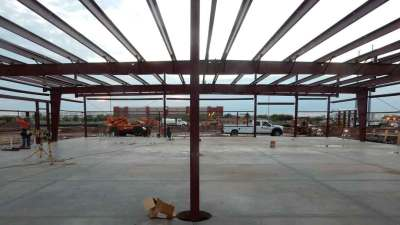 Inside Structural Frame of Werner Truck Driving Training Facility