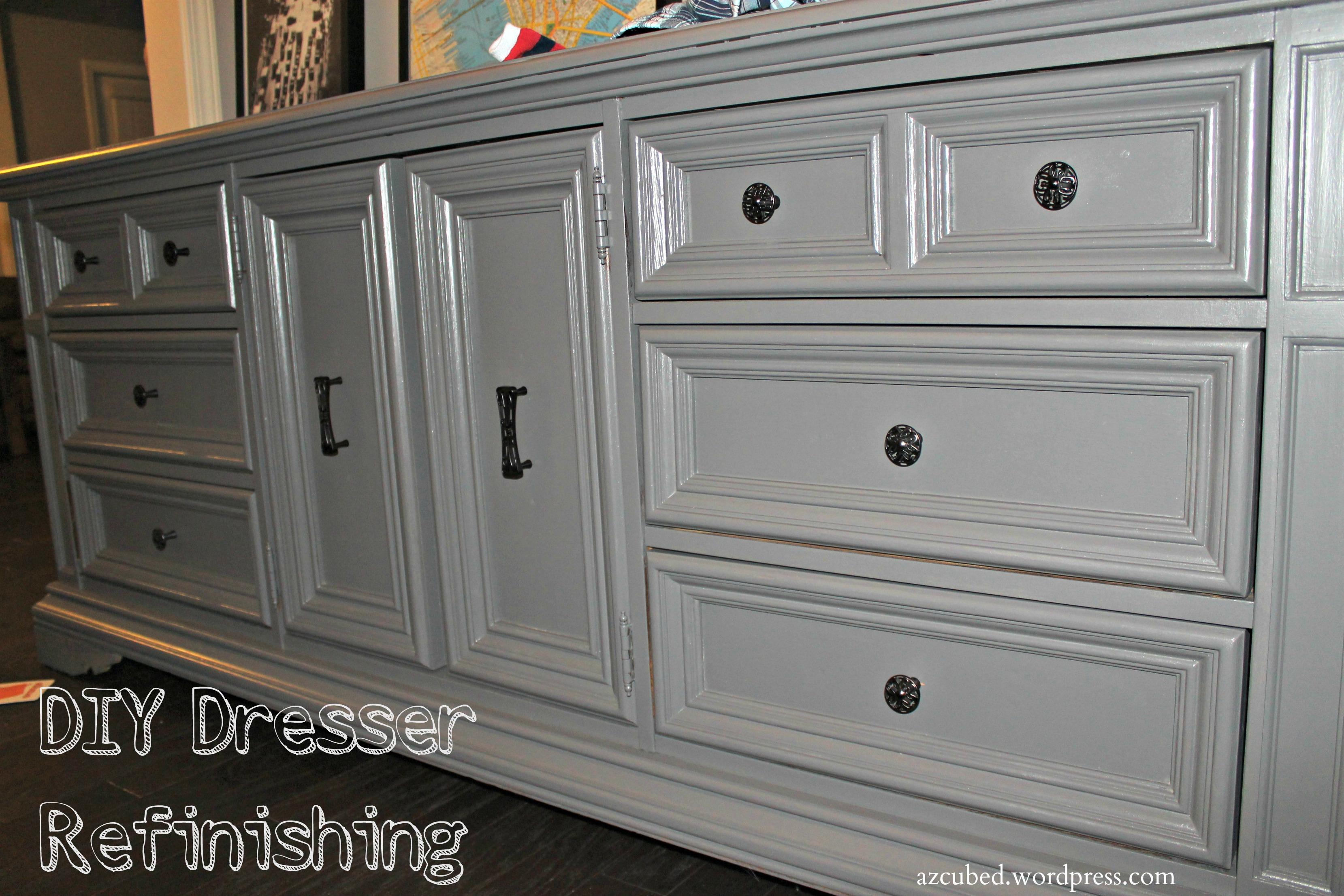 DIY Dresser Refinishing!  Domestic Superhero