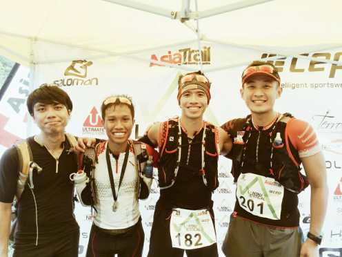 After the race - Andy, myself, Ian, Wei Chong