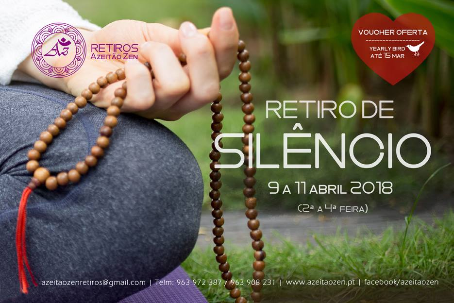 Retiro de Silêncio – 9 a 11 abril 2018