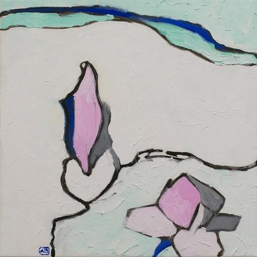"Magnolia, oil on canvas, 12x12"", 2014"