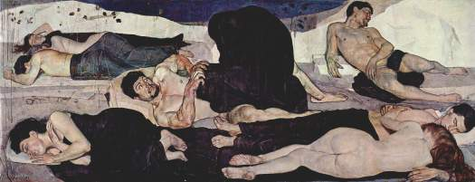 Ferdinand Hodler, Die Nacht, 1890. Source: Wikimedia Commons