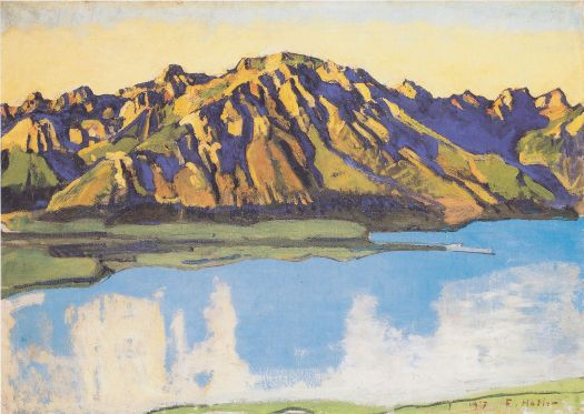 Ferdinand Hodler, Der Grammont in der Morgensonne, 1917. Source: Wikimedia Commons