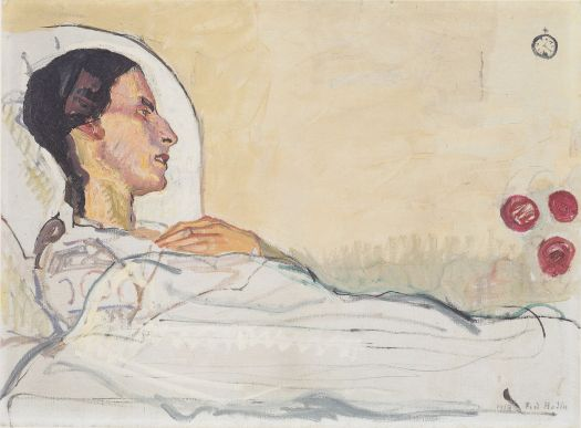 Ferdinand Hodler, Valentine Godé-Darel im Krankenbett, 1914. Source: Wikimedia Commons