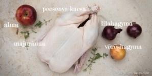 Egészben sült kacsa - hozzávalók