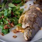Pisztráng - Trout - madárbegy salátával és céklával