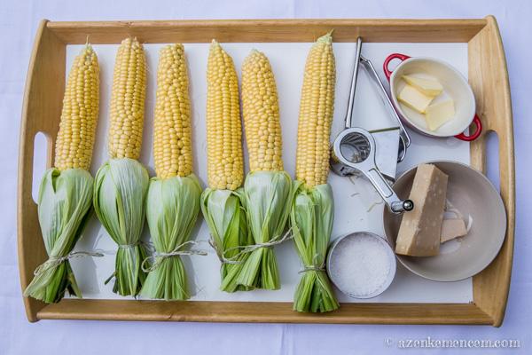 Grillezett kukorica - hozzávalók