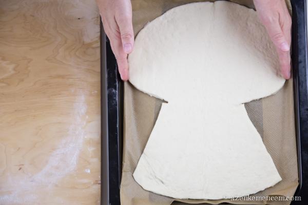 Aratási kenyér - elkészült a kéve alapja