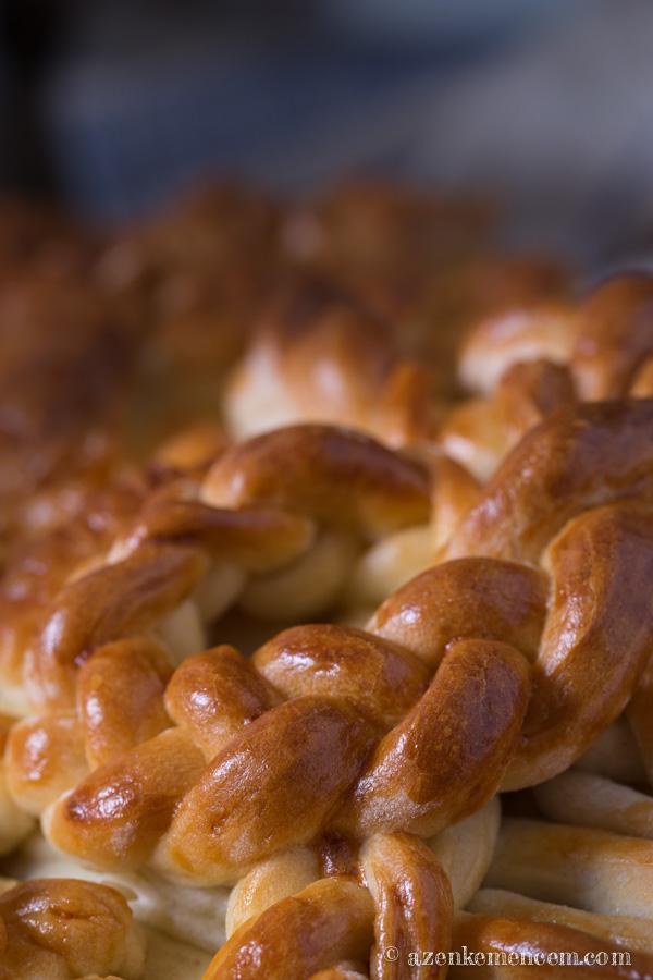 Aratási kenyér - a kévét átkötő szalag