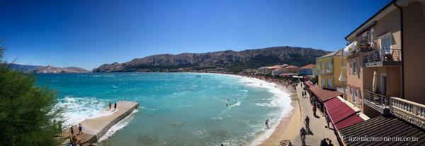 Horvátország - Baska strand