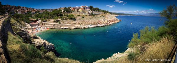 Horvátország - Vrbnik strand - Krk sziget