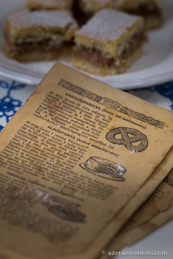 Almás pite - nagymamám Váncza féle receptkönyvéből