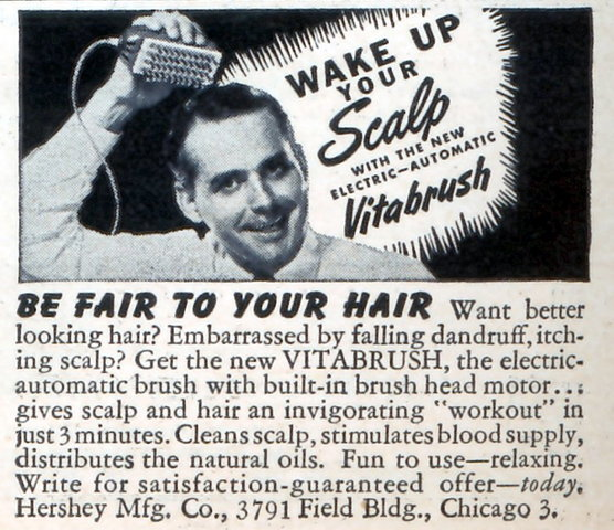 1945 advert for dry scalp (Source.)