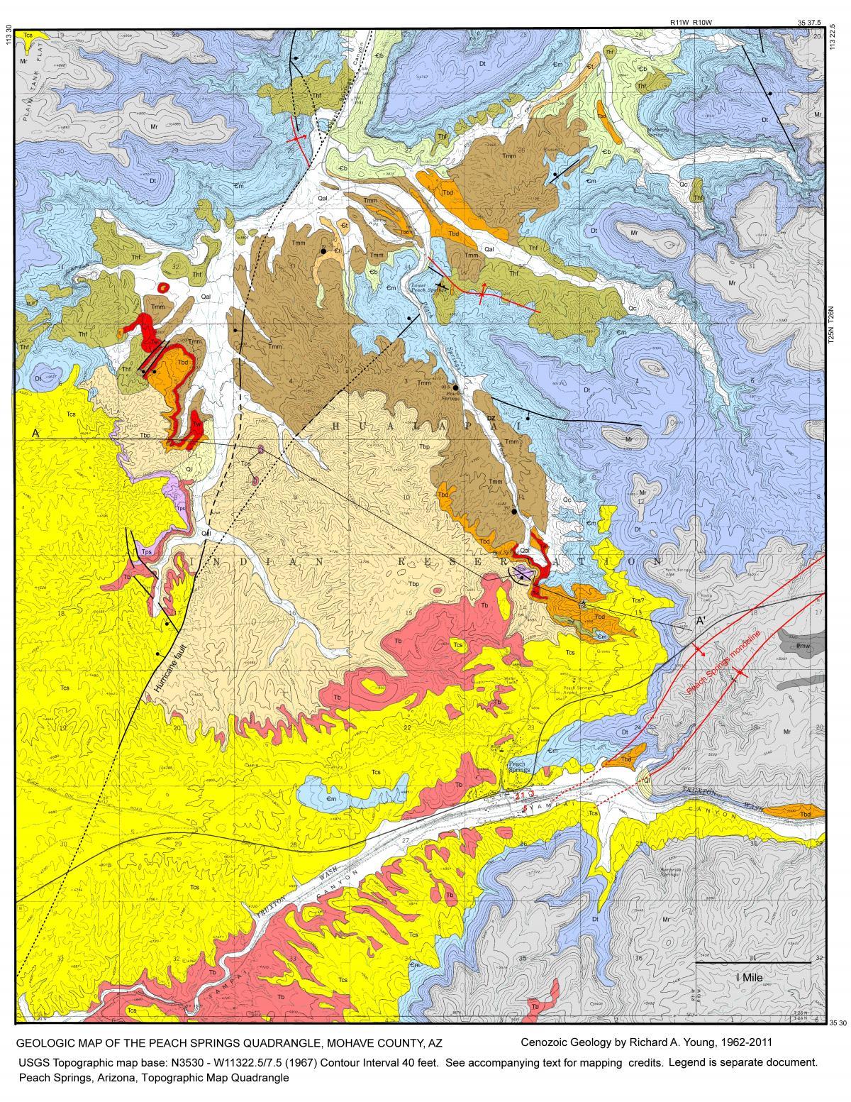 geologic map of arizona