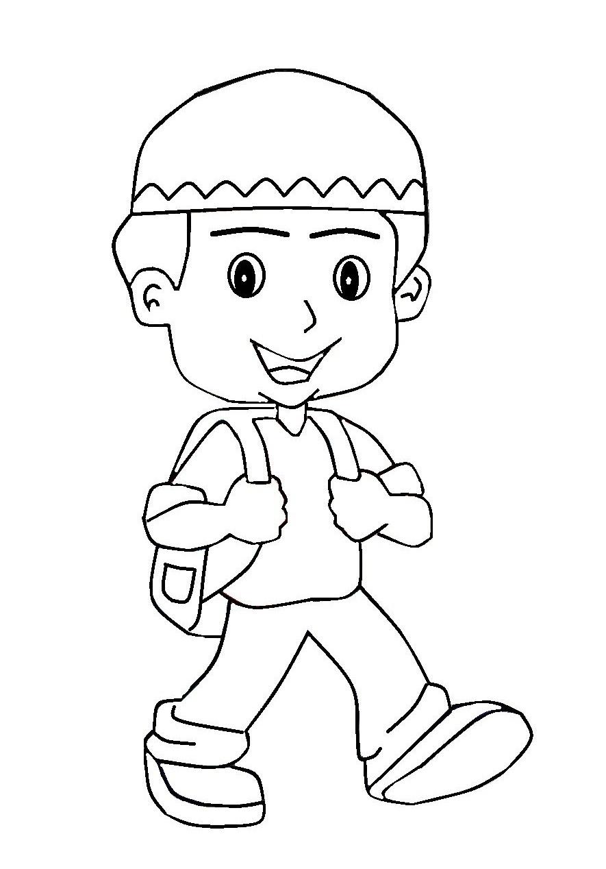 Gambar Berangkat Sekolah : gambar, berangkat, sekolah, Gambar, Kartun, Pergi, Sekolah