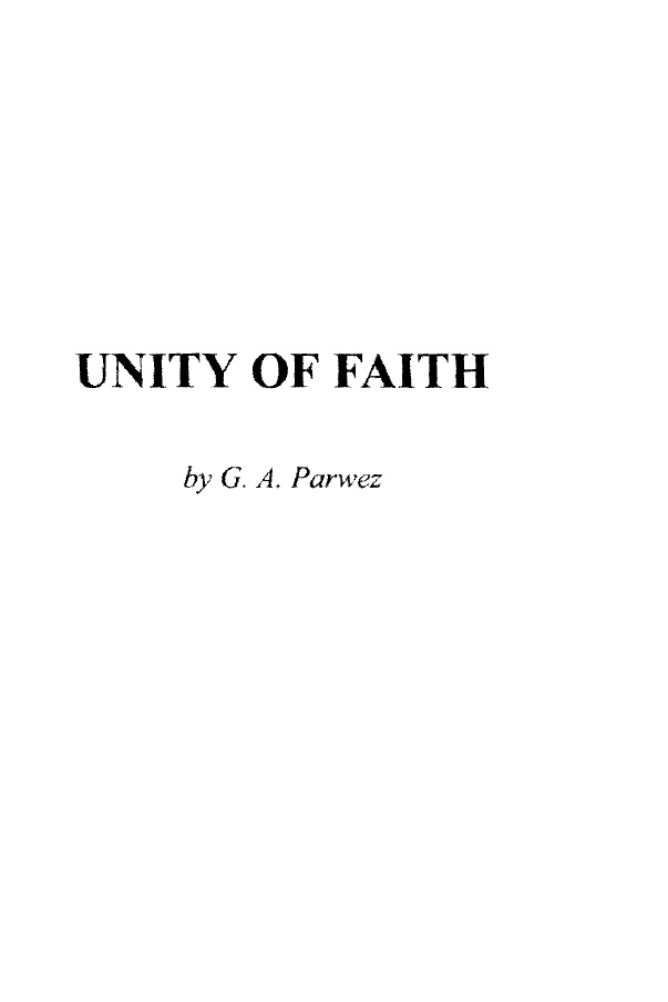 Unity-of-Faith
