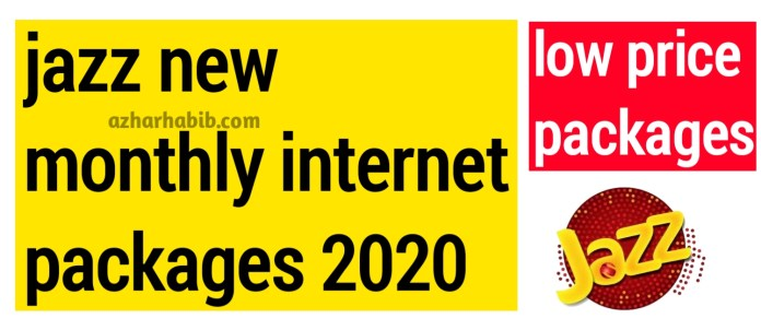 Jazz Monthly internet packages