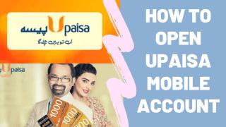 how to open upaisa account